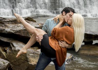Engagement at the falls
