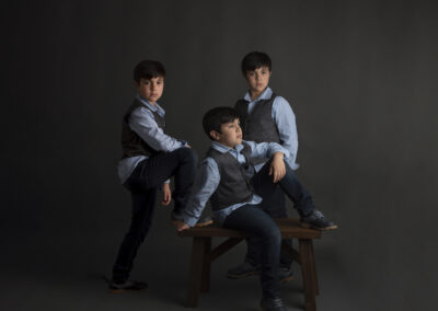 kids portrait in studio